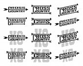 Cross Country Designs Is An Illustration Of Twelve Designs For Cross Country Runners In Schools, Clu poster