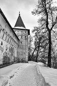 Savvino-storozhevsky Monastery In Zvenigorod In Winter Day. Moscow Region. poster
