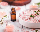 Essential Oil For Aromatherapy, Flowers, Handmade Soap, Himalayan Salt. poster