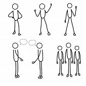 Stick Figure, Stick Man, Stick Men, Stick People, Stick Person, Set Of Stick Men. poster