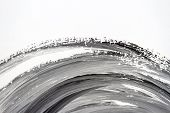 Abstract Brushed Black And White Hand Painted Acrylic Background, Creative Abstract Hand Painted Bac poster