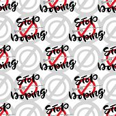 Stop Doping Pattern With Syringe. Anti Drug Concept. Vector Banner poster