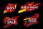 Black Friday. Sale And Discounts Banners. Set Of Banners For Web, Social Networks And Advertising. T poster