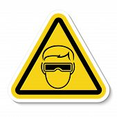 Symbol Wear Goggles Sign Isolate On White Background,vector Illustration Eps.10 poster