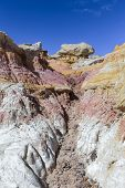 The Calhan Paint Mines. Unique And Colorful Ancient Geological Site In Colorado. poster
