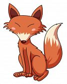 pic of cunning  - Illustration of a cunning fox - JPG