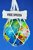 Freedom Of Speech -- The Right Of A Person To Express His Thoughts Freely, Both Orally And In Writin poster