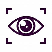 Eye Scan Icon Isolated On White Background From Security Collection. Eye Scan Icon Trendy And Modern poster