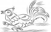 stock photo of chicken-wire  - Chicken running - JPG