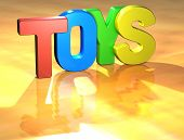picture of baby duck  - Word Toys on yellow background  - JPG