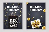 Black Friday. Celebration Black Friday Sale Banner. Black Friday Sale Banner Vector Design Template  poster