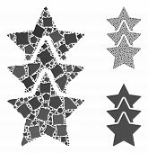 Rating Stars Composition Of Humpy Elements In Different Sizes And Color Hues, Based On Rating Stars  poster