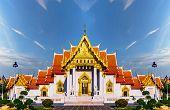 Marble Temple Of Bangkok, Thailand, Wat Benchamabophit, Bangkok, Amazing Thailand Tourist Attraction poster
