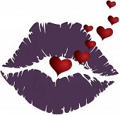 Mouth Sensual Lips With Many Hearts Mouth Sensual Lips With Many Hearts poster