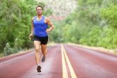 picture of sprinter  - Running athlete man - JPG