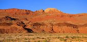 Panoramic view of bright orange vermillion cliffs