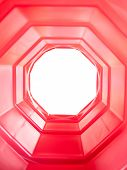 picture of octagon shape  - Red octagon - JPG