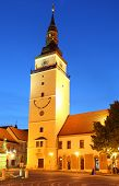 stock photo of mikulas  - Trnava Tower at night  - JPG