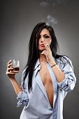 image of debauchery  - Sensual young woman in a man - JPG