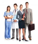 picture of medical doctors  - Smiling medical doctor with stethoscope - JPG