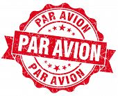 Par Avion Grunge Round Red Seal