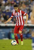 BARCELONA - OCT, 19: David Villa of Atletico de Madrid in action during a Spanish League match again