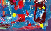 stock photo of acrylic painting  - abstract painting - JPG