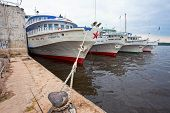 Samara, Russia - June 11: River Cruise Passenger Ships At The Moored On Volga River On June 11, 2012