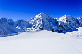 stock photo of italian alps  - Winter mountains - JPG