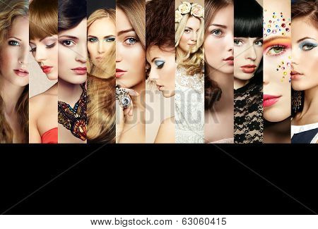 Beauty Collage. Faces Of Women poster