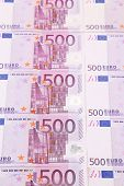 picture of fantail  - Five hundred euro banknotes - JPG