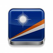 Metal  icon of Marshall Islands