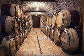 pic of fermentation  - Very high resolution rendering of an ancient wine cellar - JPG