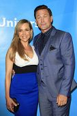 PASADENA - APR 8: Julie Benz, Grant Bowler at the NBC/Universal's 2014 Summer Press Day held at the