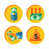 Money icon vector set