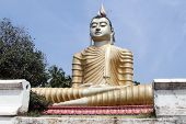 stock photo of vihara  - Big Buddha in Wewurukannala Vihara Sri Lanka - JPG