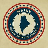 Vintage Label Maine