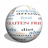 Gluten Free 3D Sphere Word Cloud Concept