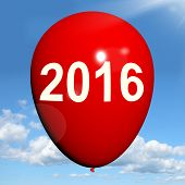 Two Thousand Sixteen On Balloon Shows Year 2016