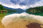 image of bavarian alps  - Idyllic lake scenery in Bavarian Alps - JPG