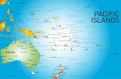 pic of pacific islands  - Vector color map of pacific islands  - JPG