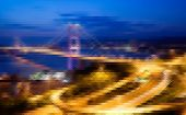stock photo of hong kong bridge  - Mosaic city scenery of Hong Kong - JPG