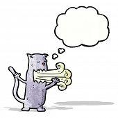 image of belching  - cartoon cat with bad breath - JPG