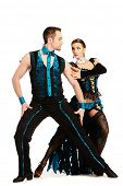 image of tango  - Beautiful professional dancers perform tango dance with passion and expression - JPG