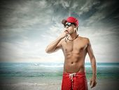 picture of lifeguard  - Attractive lifeguard  - JPG