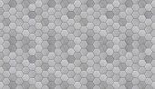 picture of futuristic  - Hexagonal alunimun tiles as a high detail futuristic seamless background - JPG