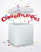picture of congratulation  - Vector Illustration of Congratulations message box with confetti - JPG