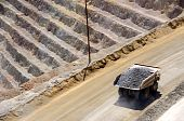 picture of porphyry  - Giant Ore Truck at Bingham Kennecott Copper Mine - JPG