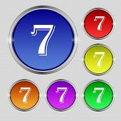 stock photo of number 7  - number seven icon sign - JPG