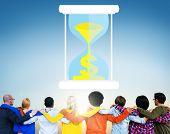 image of sand dollar  - Time Sand Glass Hour Glass Finance Saving Concept - JPG